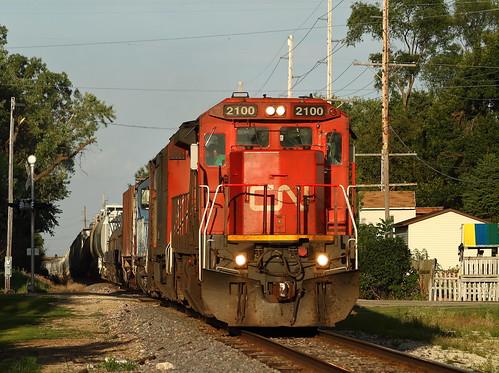 railroad train iowa ge freight epworth 2100 m337 c408 standardcab cn2100 dubuquesub