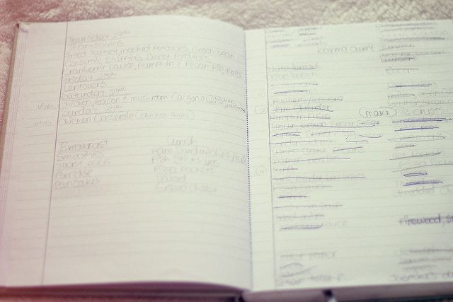 Menu Plan and Grocery Notebook