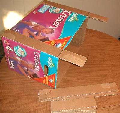 How to: No Sew Fleece Cube / Box Shelf 26274930696_69fd2a7971