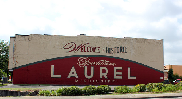 Welcome to Historic Downtown Laurel, Mississippi Mural