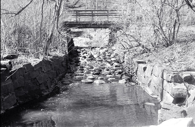 Erosion Control and Closed Foot Bridge