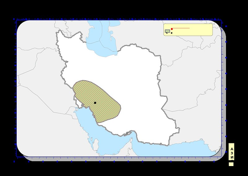 The area of Elam on map of modern-day Iran