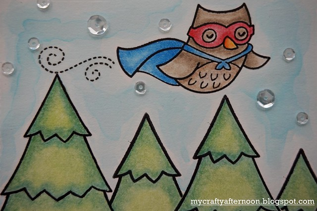 Thank You Card Series - Super Owl Detail