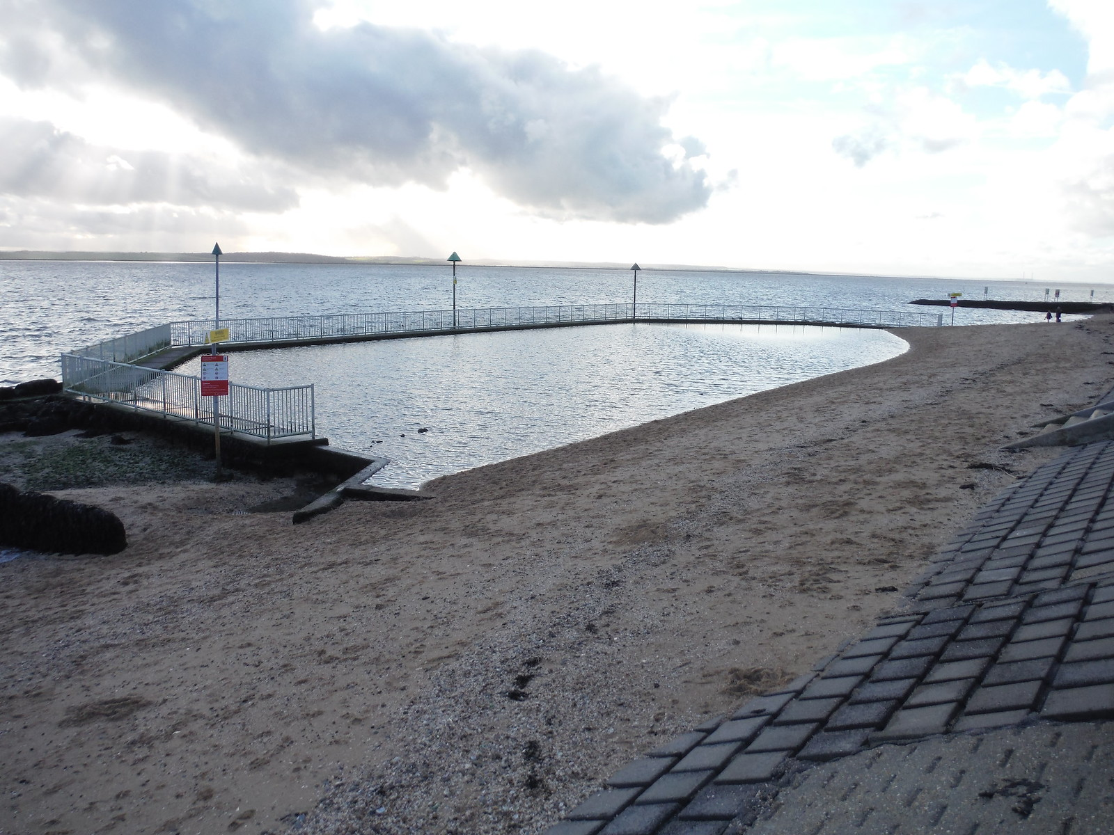 First (easterly) Paddling Pool, Concord Beach, Canvey Island SWC Walk 258 Benfleet Circular (via Canvey Island)