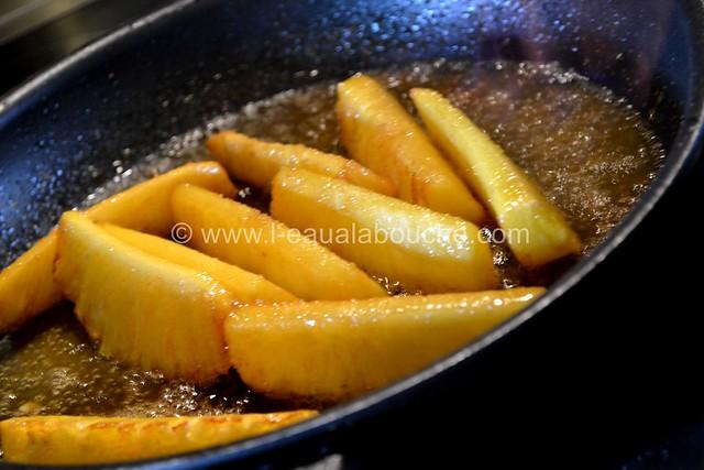 Ananas Caramélisés & Flambés © Ana Luthi Tous droits réservés 010