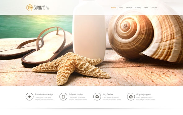 SunnySpa One Page Bootstrap Template