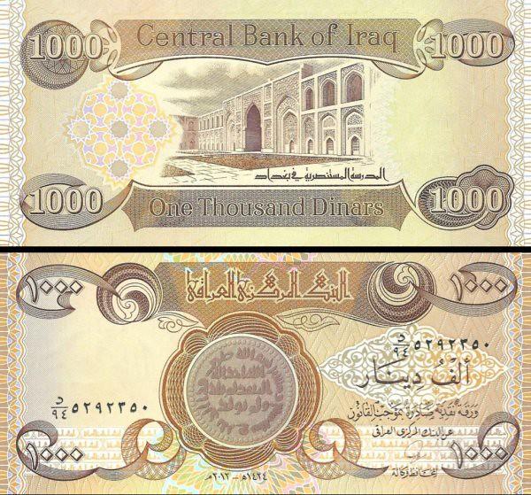 1000 Dinárov Irak 2013, P99 UNC