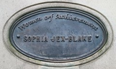 Photo of Sophia Jex-Blake bronze plaque