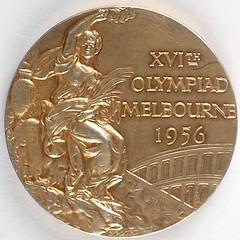 Melbourne 1956 Summer Olympics Gold Winner's Medal reverse
