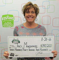 Tracy Montgomery - $390,200 Lucky For Life