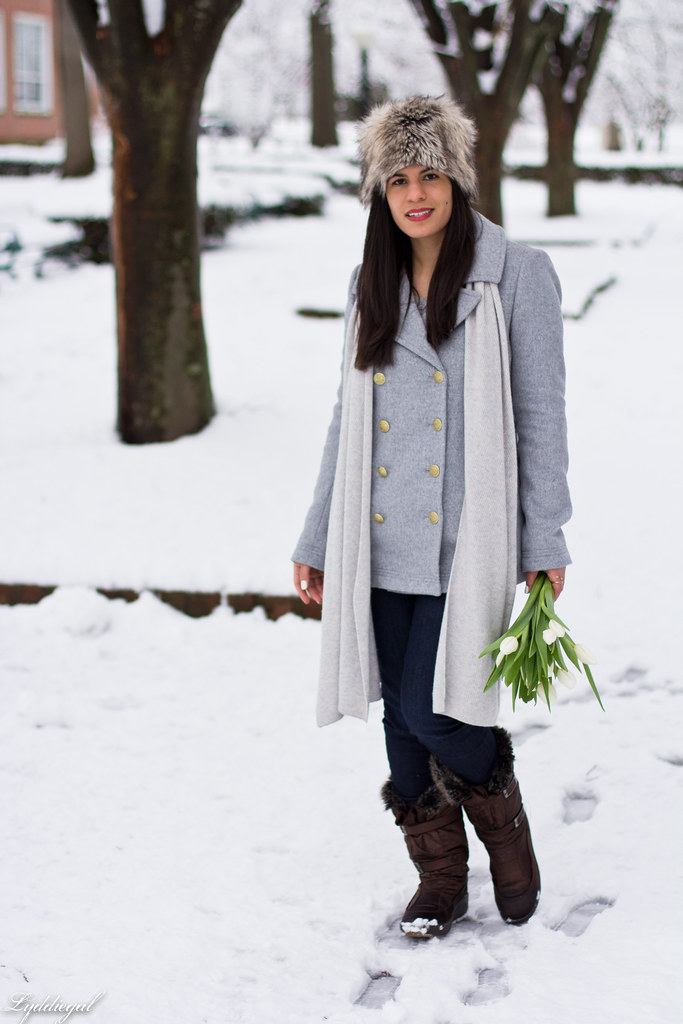 grey peacoat, grey sweater, snow boots, fur hat-6.jpg