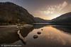 Glendalough Upper Lake after Sunset
