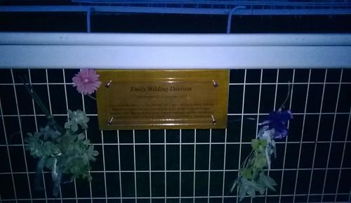 Emily Wilding Davison memorial plaque