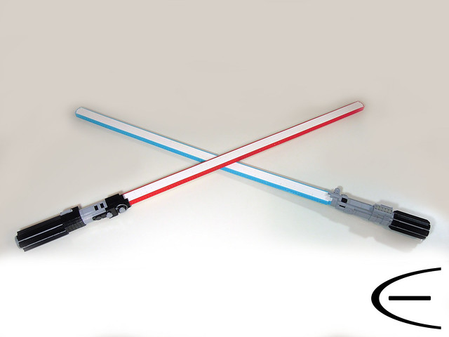 LEGO Skywalker and Darth Vader Lightsabers