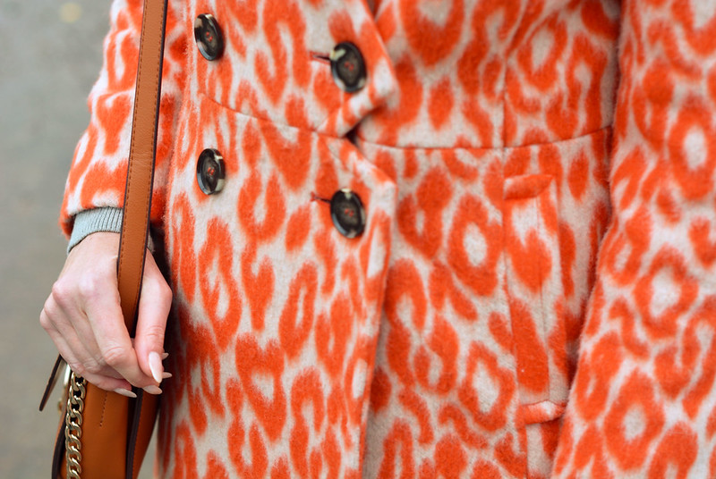 Orange animal print coat | Not Dressed As Lamb
