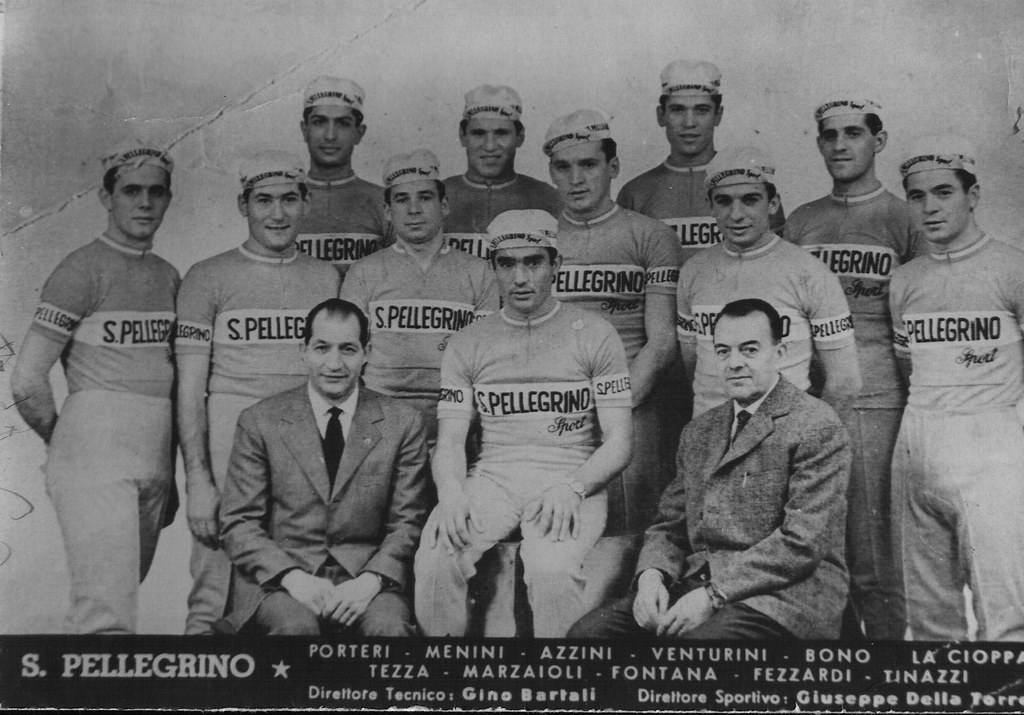 Squadra San Pellegrino anno 1961 (foto inviata dal fratello Amedeo)