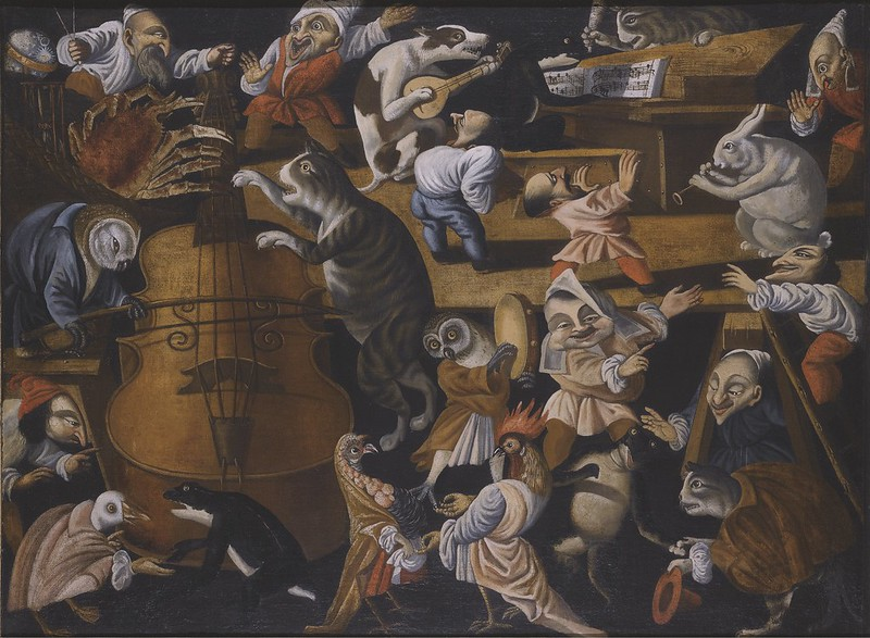 Master of the Fertility of the Egg - A Concert Of Animals, Birds and Stylised Figures, Late 17th - Early 18th Century