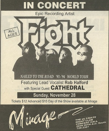 11/28/93 Fight/ Cathedral @ Mirage, Minneapolis, MN