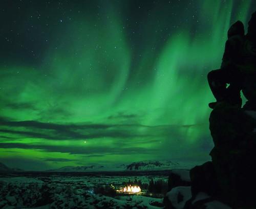 Sjonni enjoying the view 🌠🌟 #canong7x #photooftheday #stars #night #longshutter #northernlights #welivetoexplore #euroshot_iceland #dark #nighttime #night #travelgram #welivetoexplore #aurora #nordurljos #wonderful_earthpix #naturelovers #nowh