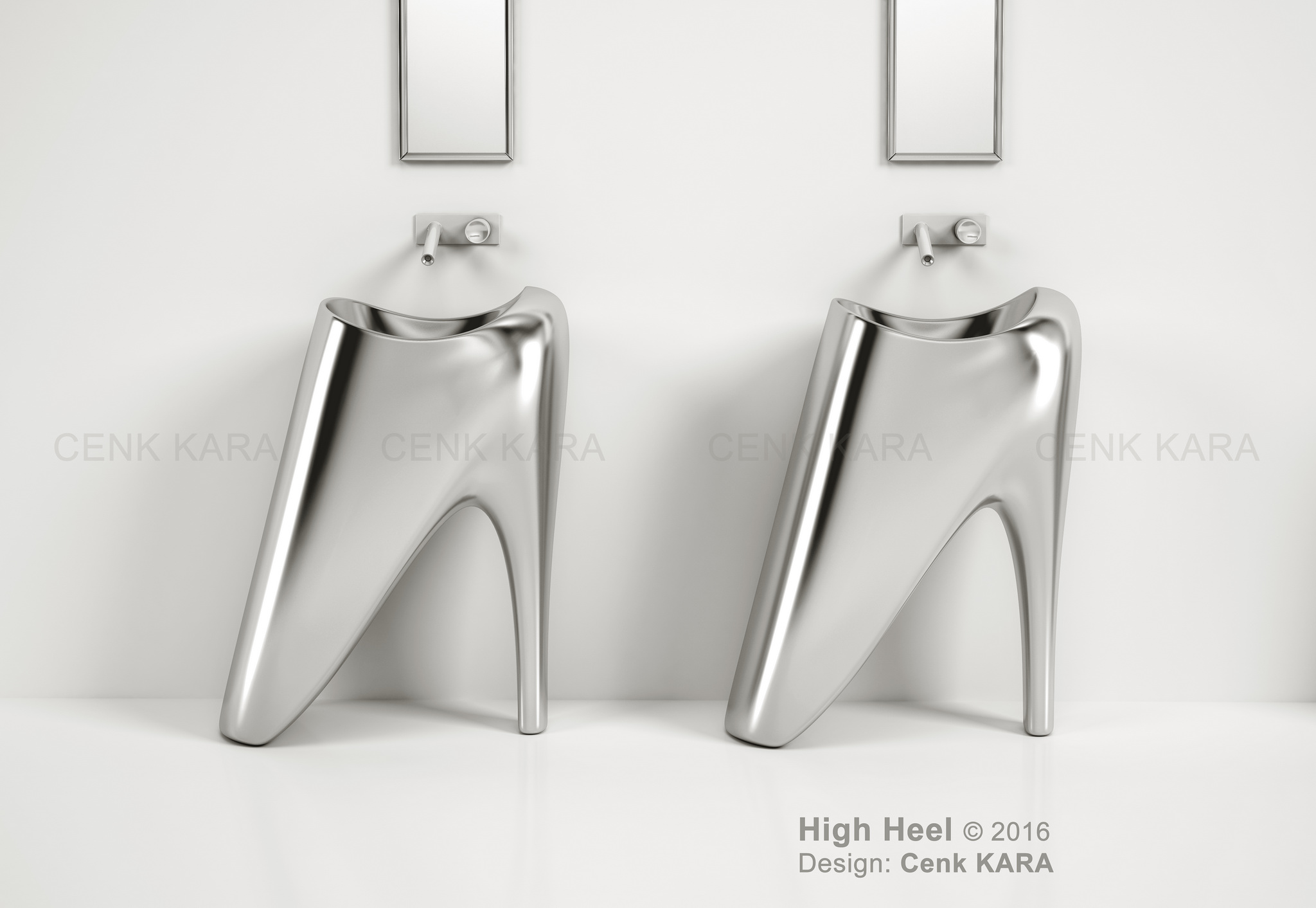 High Heel - freestanding washbasin