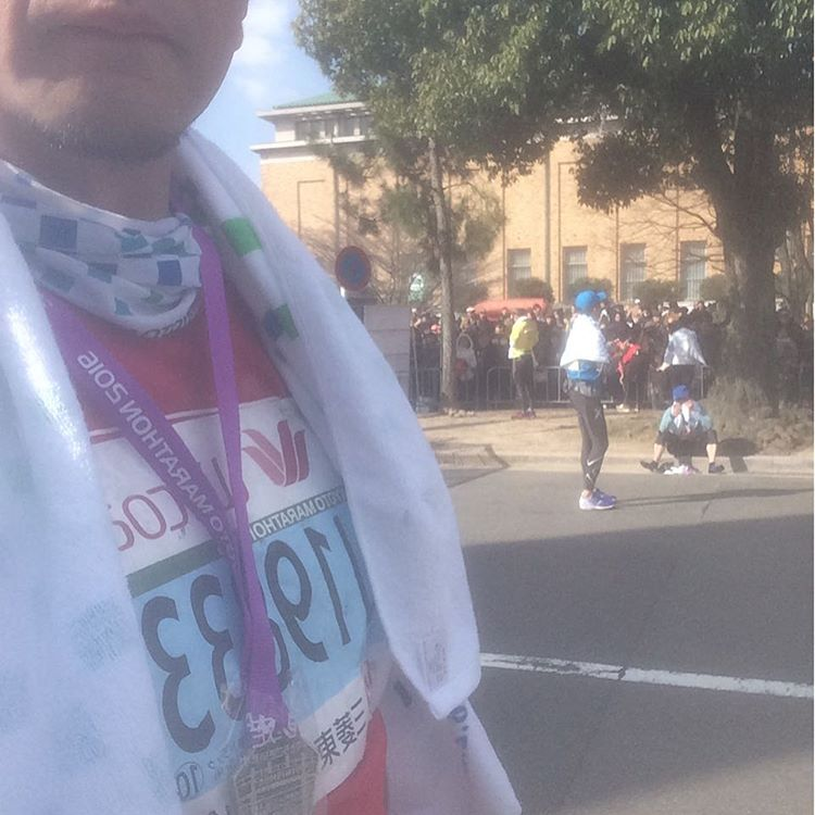 タイムは散々だったけど、無事完走。足つりそうできつかったけど、超楽しかった! #京都マラソン2016
