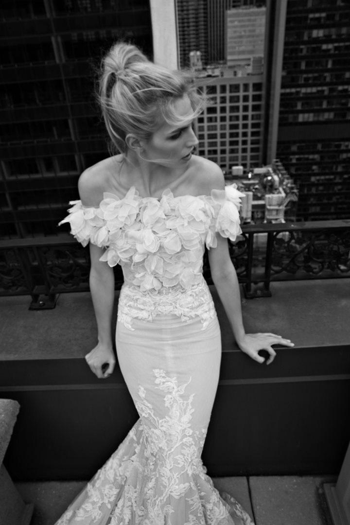 Inbal Dror 2016 Wedding Dresses - Mermaid off the shoulder wedding dress | itakeyou.co.uk