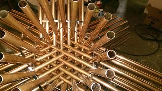 copper star, detail