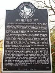 Photo of Rudolph Bergfeld black plaque