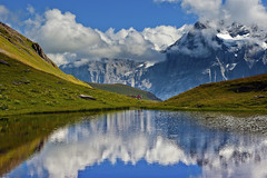 Hiking in Switzerland ; Grindelwald , First , above Bachsee . No. 8974.