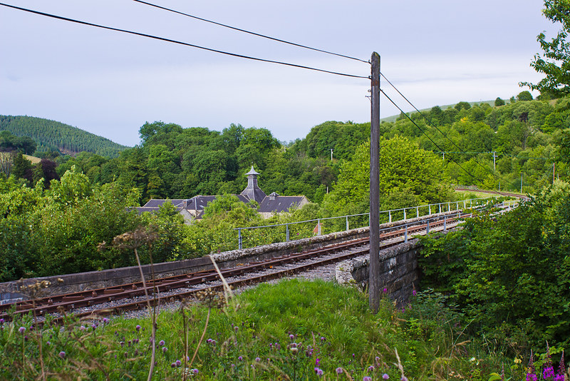 Dufftown scenic railway and the decommissioned Parkmore Distillery