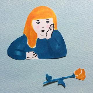 #illustration #sketch #drawing  #人物 #people #satoshigemi  #girl #copic