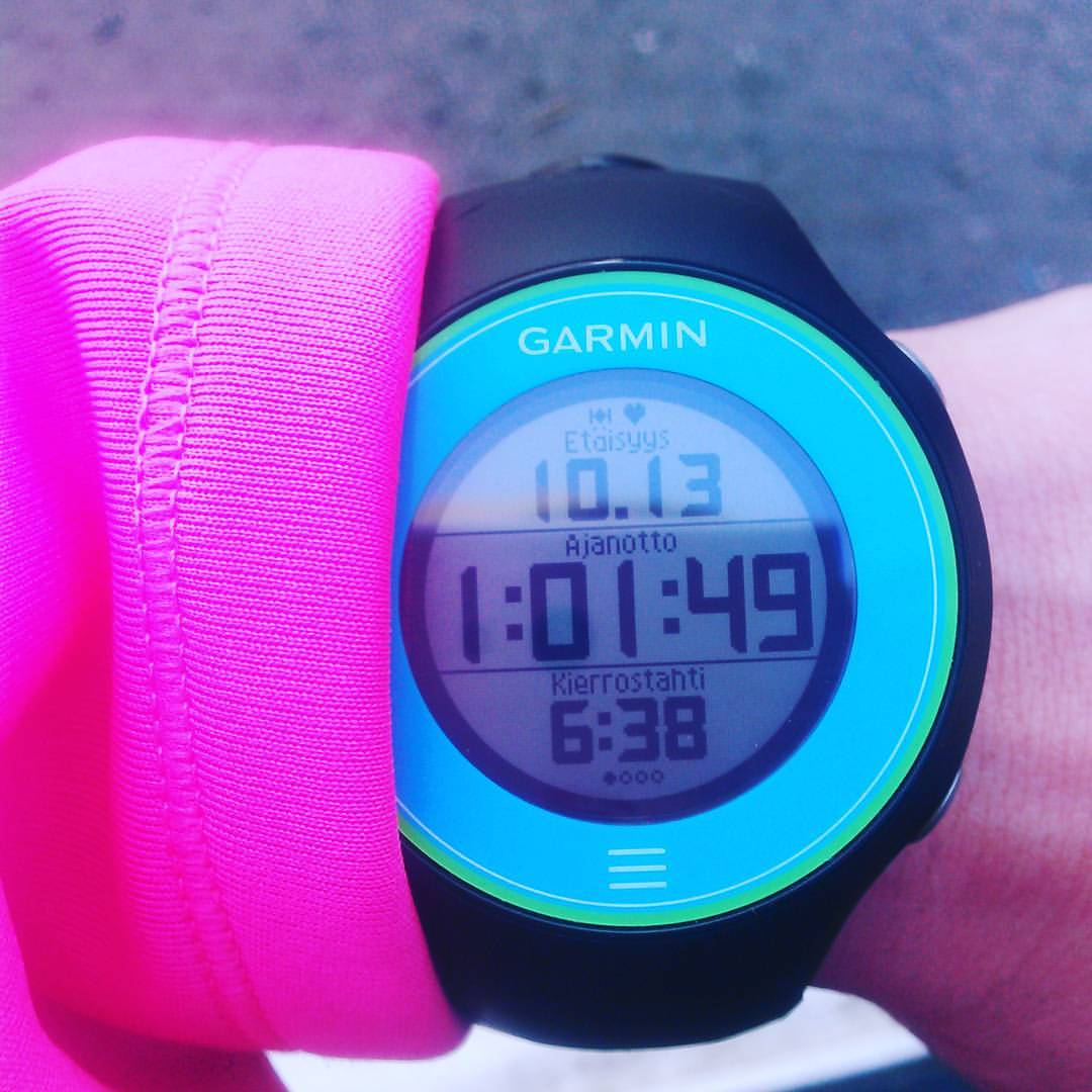 I'm so proud of me! 10 km happy run! #running #jogging #runninglove #garmin