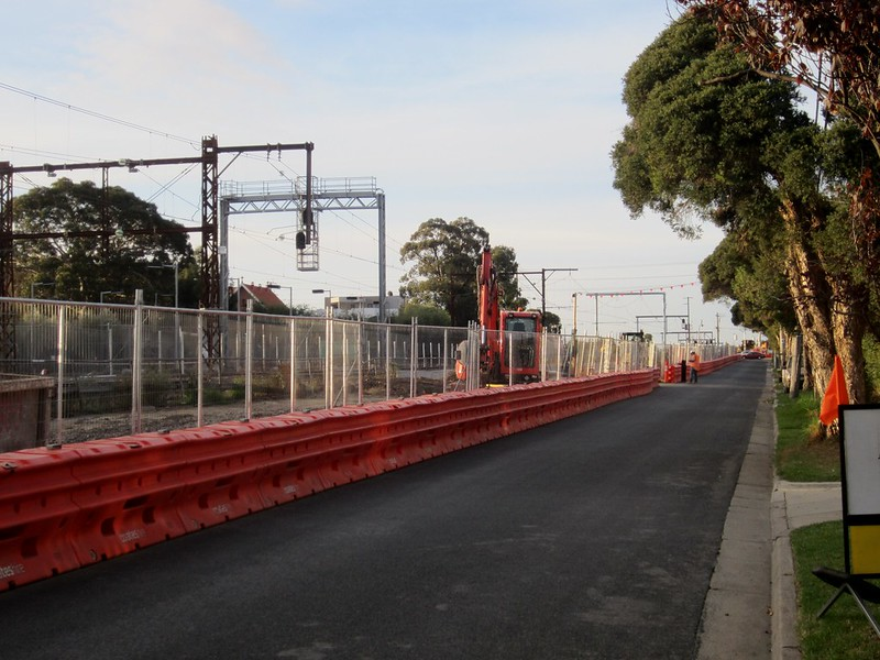 Between Mckinnon and Ormond, during level crossing removal works