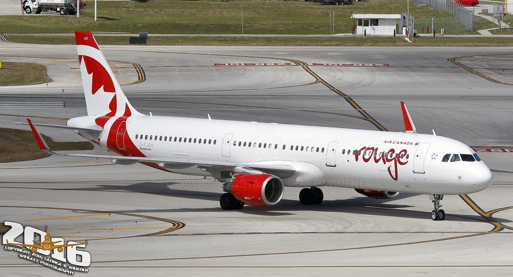 C-FJQH - A321 - Air Canada Rouge