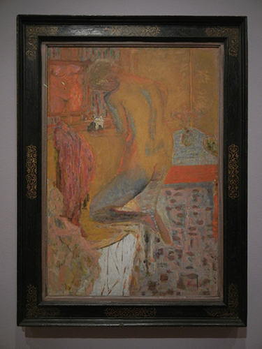 Pierre Bonnard, Legion of Honor, SF - Nude with Back to Her Toilet, Woman at Her Dressing Table, or Yellow Harmony _ 1869