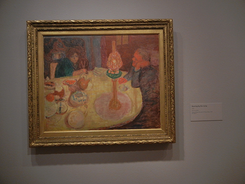 Pierre Bonnard, Legion of Honor, SF - Evening by the Lamp _ 1862
