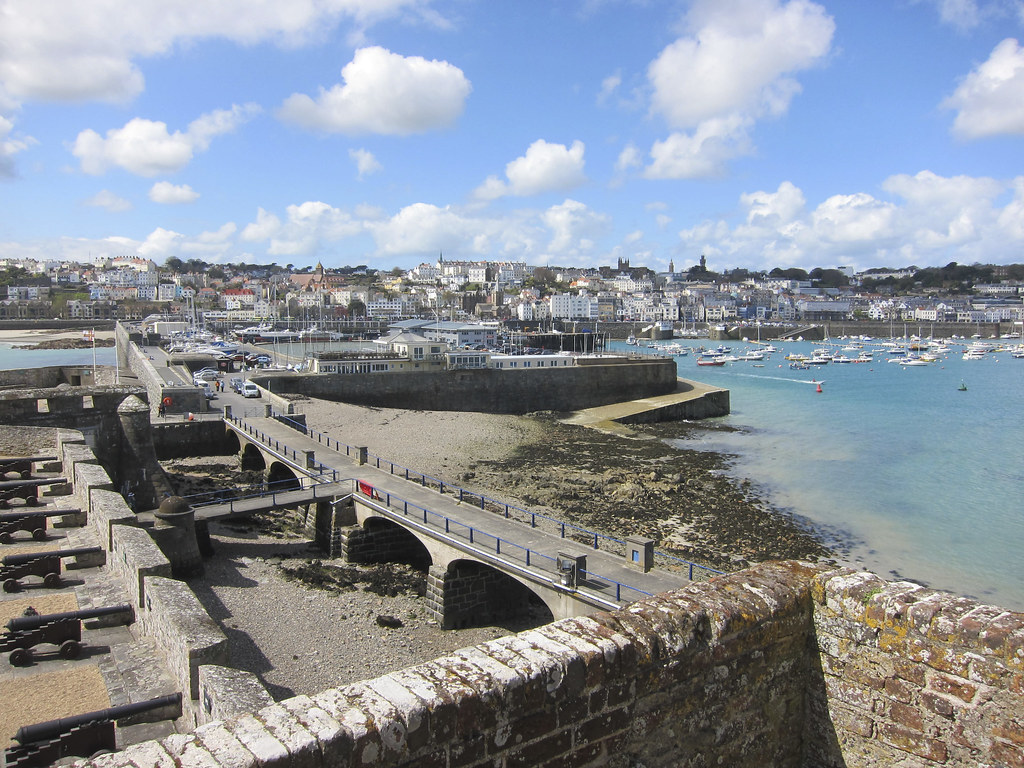 View to town from Castle Cornet, Guernsey