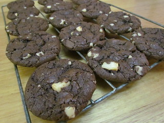 Double Chocolate Macadamia Cookies