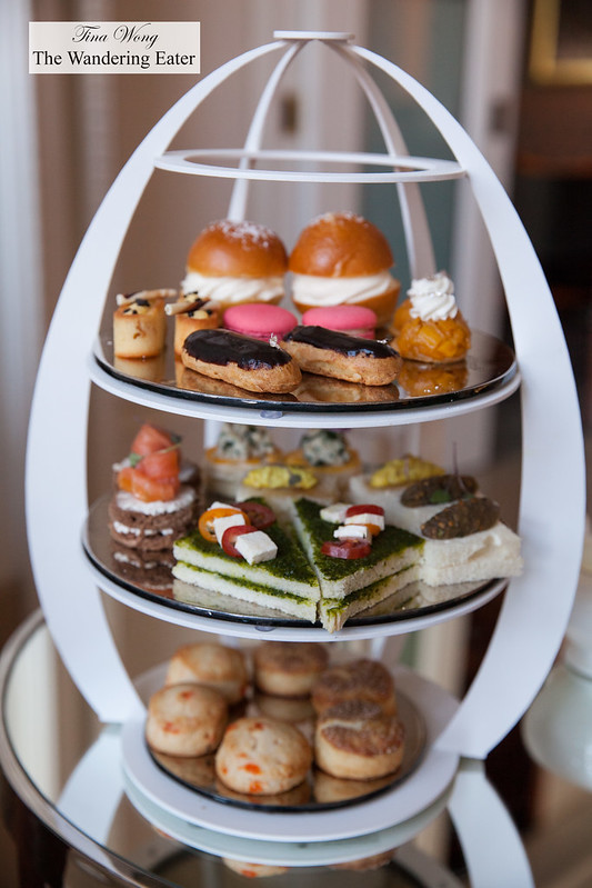 One of our tiers of afternoon teas