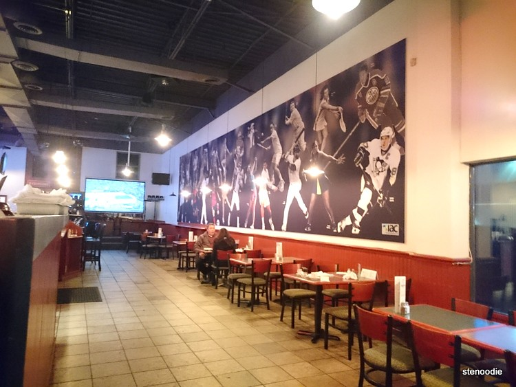 Sports mural at Junction Kitchen & Bar