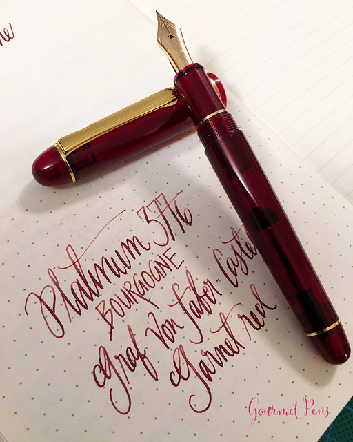 Review Platinum #3776 Century Bourgogne Fountain Pen - Soft-Fine @PenChalet @CarolLuxury (8)