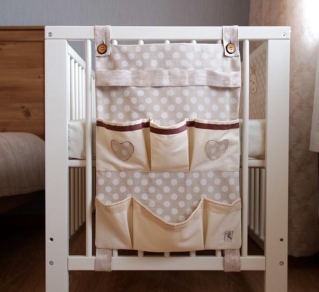 Органайзер с карманами для детской кроватки своими руками