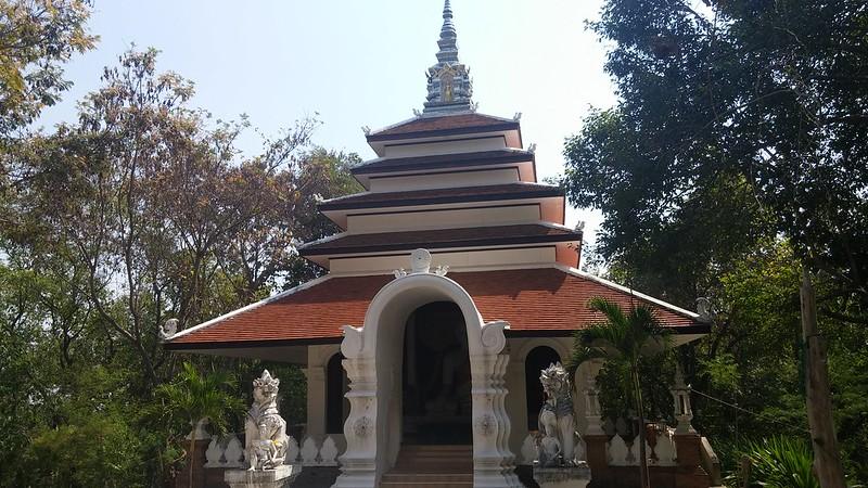 A temple halfway up Doi Suthep Mountain.