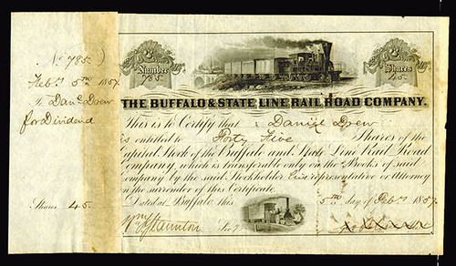 Lot 509 Buffalo State Line Rail Road Stock Certificate