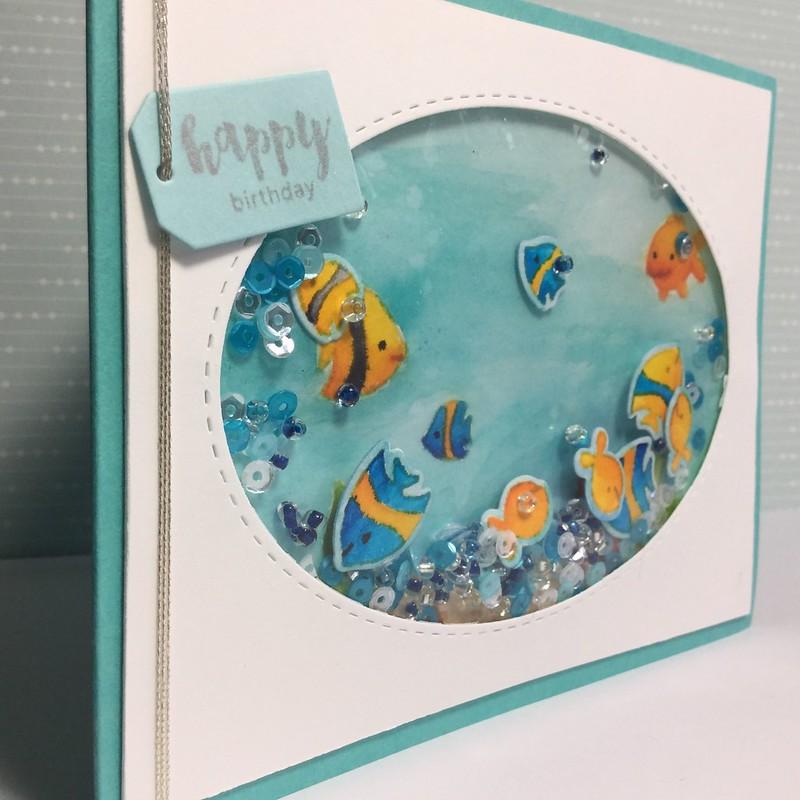 Birthday fishes shaker
