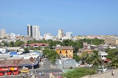 View from the Castillio de San Felipe, Cartagena, Colombia