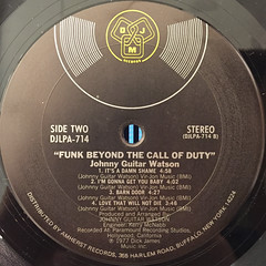 JOHNNY GUITAR WATSON:FUNK BEYOND THE CALL OF DUTY(LABEL SIDE-B)