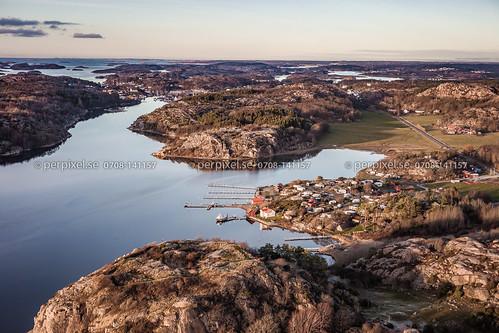 camping sverige slottet swe västragötaland hamburgsund flygfoto