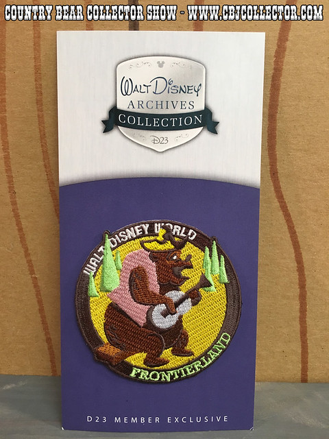 2011 Walt Disney World D23 Member Exclusive Frontierland Patch - Country Bear Collector Show #029