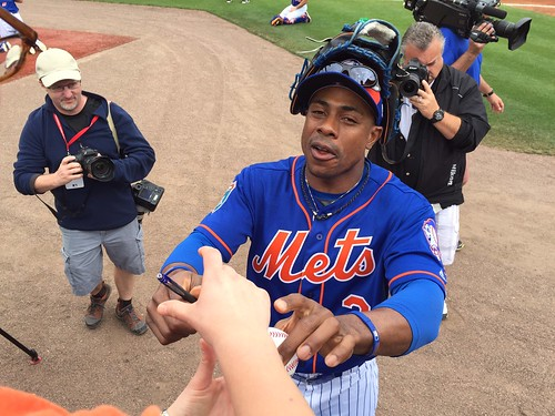 Curtis Granderson signing my ball